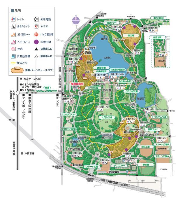 大泉緑地 駐車場 遊具