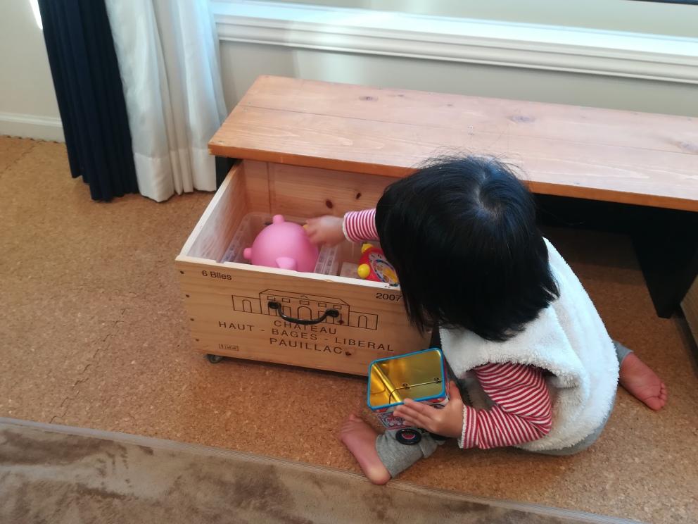 おもちゃ箱 DIY キャスター付