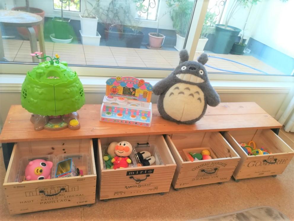 おもちゃ箱 DIY 木箱